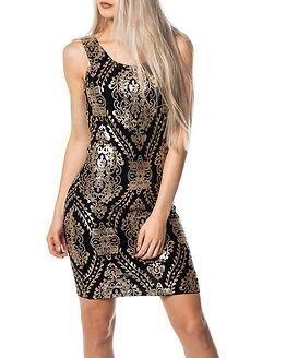 Only Amber Sequin Dress Black