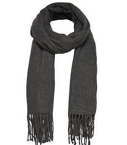 Only Anna Weaved Scarf Dark Grey Melange