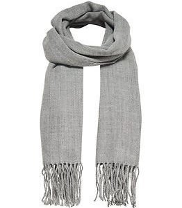 Only Anna Weaved Scarf Light Grey Melange