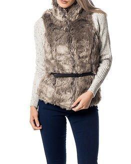 Only Augusta Fox Fur Waistcoat Ash