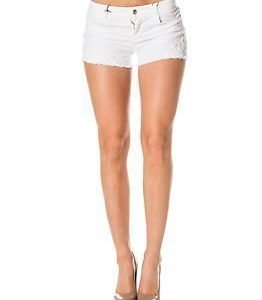 Only Carrie Denim Lace Shorts White