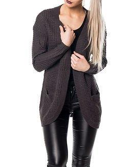 Only Emma XO Long Cardigan Knit Asphalt