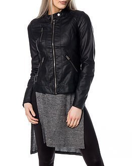 Only Ferry Faux Leather Biker Black