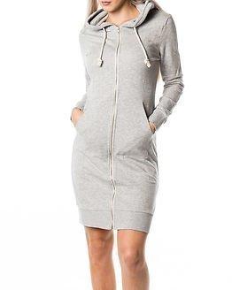 Only Jane X-Long Zip Hood Sweat Light Grey Melange