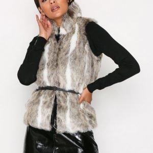 Only Onlamy Fur Waistcoat Otw Tekoturkisliivi Vaaleanruskea