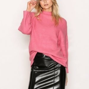 Only Onlann Faux Leather Midi Skirt Otw Minihame Musta
