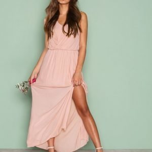 Only Onldonna Sl Long Dress Wvn Loose Fit Mekko Vaalea Pinkki