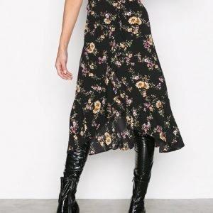 Only Onlella Flounce Skirt Wvn Midihame Musta
