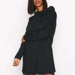 Only Onlfairy Mel Hooded Long Coat Cc Ot Pitkä Takki Musta