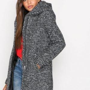 Only Onlindie Noma Wool Coat Cc Otw Pitkä Takki Tummanharmaa