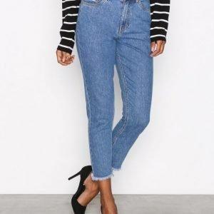 Only Onlkelly Hw Mom Dnm Jeans Akm Straight Farkut Sininen