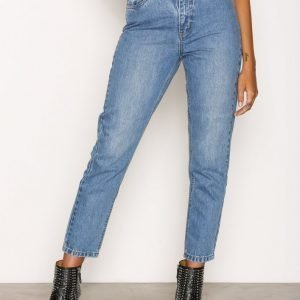 Only Onlkelly Mom Dnm Jeansbj10541 Loose Fit Farkut Sininen