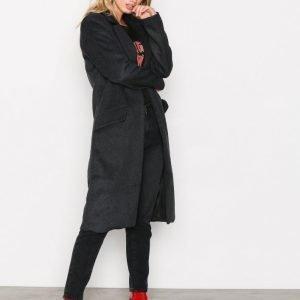 Only Onllouise Oversized Long Wool Coat Pitkä Takki Musta