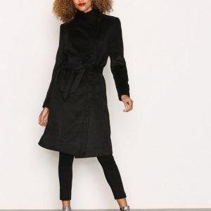 Only Onlmary Long Wool Coat Otw Pitkä Takki Musta