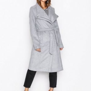 Only Onlmary Long Wool Coat Otw Pitkä Takki Vaaleanharmaa
