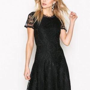 Only Onlmystery Lace S / S Dress Wvn Juhlamekko Musta