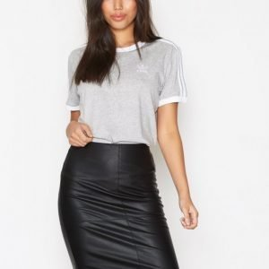 Only Onlticket Faux Leather Skirt Otw No Midihame Musta