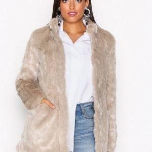 Only Onlviva Fur Coat Otw Tekoturkki Vaaleanharmaa