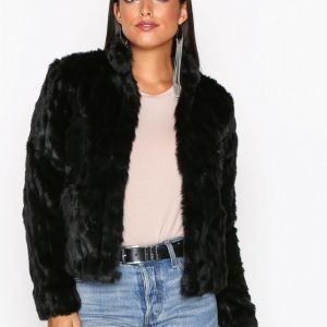 Only Onlviva Fur Jacket Otw Tekoturkki Musta