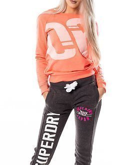 Only Play Brianna Boat Neck Sweat Bright Coral