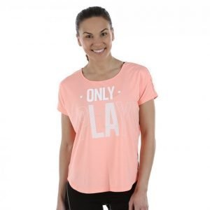 Only Play Celia Loose Ss Training Tee Treenipaita Oranssi