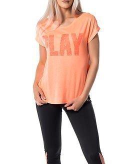 Only Play Jina Loose Tee Bright Orange