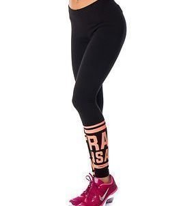 Only Play Nanna Jersey Leggings Black/Bright Orange