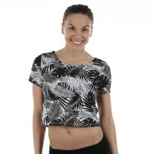 Only Play Palm Cropped Mesh Tee Treenipaita Värikäs