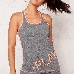 Only Play Rosa Tank Top Medium Grey Melange