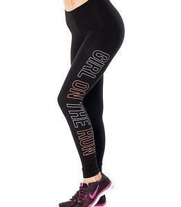 Only Play Tanya Jersey Leggings White Bright Orange