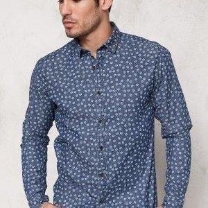 Only & Sons Adrian LS Shirt Medium blue denim