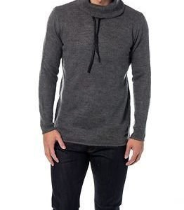 Only & Sons Bull Long Crew Neck Knit Dark Grey Melange