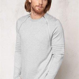 Only & Sons Crew neck knit Light grey melange