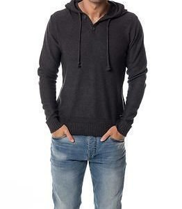 Only & Sons Daniel Hooded Knit Dark Grey Melange