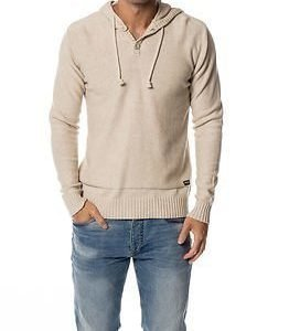 Only & Sons Daniel Hooded Knit Oatmeal