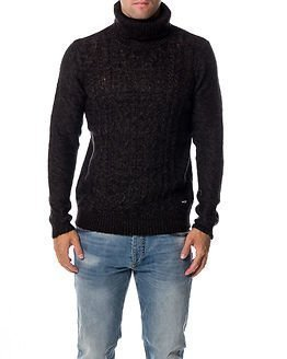 Only & Sons Dominic High Neck Knit Black