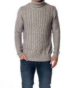 Only & Sons Dominic High Neck Knit Light Grey Melange