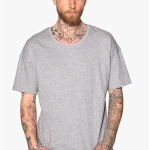 Only & Sons Edmund O-neck Tee Light Grey Melange