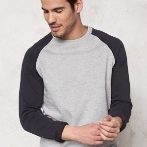 Only & Sons Fan Raglan Crew Neck Light grey melange