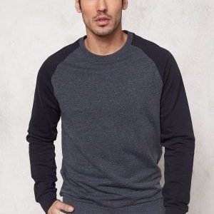 Only & Sons Fan Raglan Crew Neck Night Sky