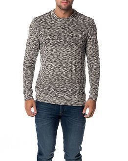 Only & Sons Felicito Knitted Crew Neck Black Melange