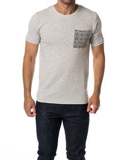 Only & Sons Kalle Fitted Tee Light Grey Melange