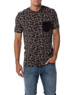 Only & Sons Kasey AOP Fitted Tee Raven