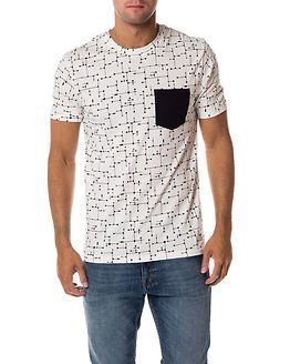 Only & Sons Kasey AOP Fitted Tee White