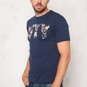 Only & Sons Net Fitted Tee Dress Blues