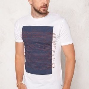 Only & Sons Net Fitted Tee White