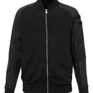 Only & Sons Olly nylon sleeve zip Black