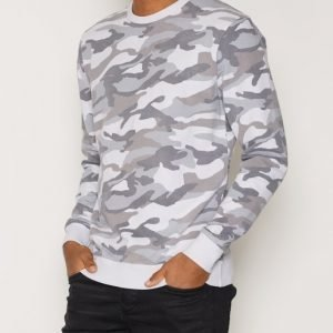 Only & Sons onsCAMO Drop Washed Crew Neck Exp Pusero Harmaa