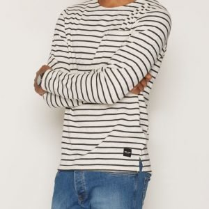 Only & Sons onsPALLY Ls Fitted Crew Neck Noos Pusero Valkoinen