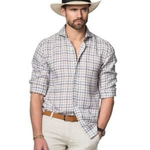 Oscar Jacobson Harry Slim 471 Brown Check